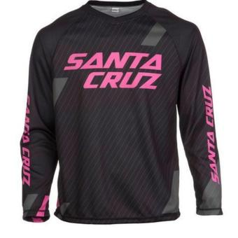 Fortress Cycling Mountain Bike Long Sleeve Jersey (Pink/Black)