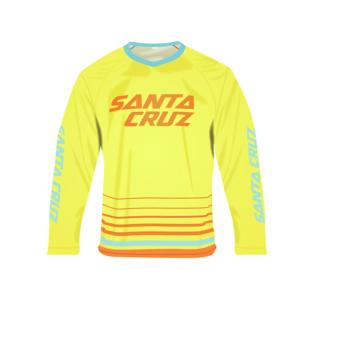 Fortress Cycling Mountain Bike Motocross Motorcycle/MTB Long SleeveJersey (STACRUZYELLOW)