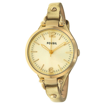 Fossil Georgia Women's Metallic Rose Gold Leather Watch ES3413