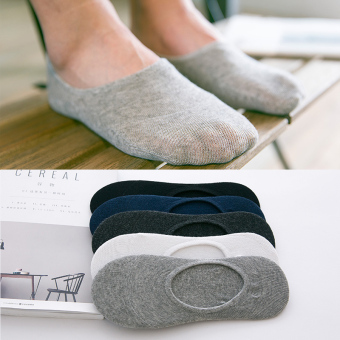 Four Seasons thin deodorizing men Socks (407 solid color hidden no-show socks)