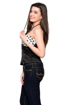 French Dolls Polka Corset Top (Black) - picture 2