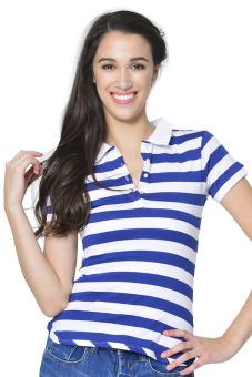 Freshgear Women's Polo Tees (Skipper Blue)