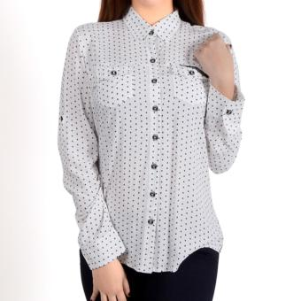 Fubu Queens FGT13-032 Quarter Sleeves Blouse (White)