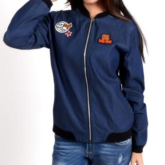 Fubu Queens QGT17-0001 Bomber Jacket (Dark Wash )