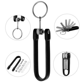 FURA HA-III Hard Oxidation Aluminum Alloy Key Holder Oragnizer -Black - intl - 3