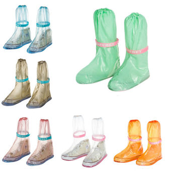 GAKTAI PVC Waterproof Shoe Covers Reusable Anti-slip Rain BootMotorcycle Bike Overshoe (Pink) - Intl Price Philippines