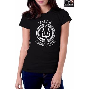 Game of Thrones T-Shirt for Women - Valar Morghulis (Black)