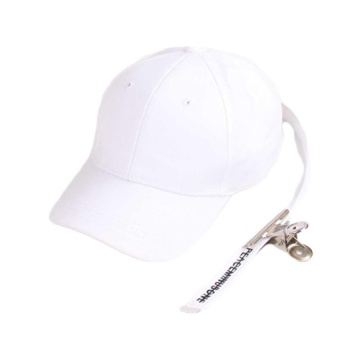 GD Same Style Baseball Cap Hat Peaceminusone Fashion Adjustable Hip Hop Cotton With Clip(White) - intl