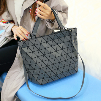 Geometric bao lei radio women's bag (Dark Grey)