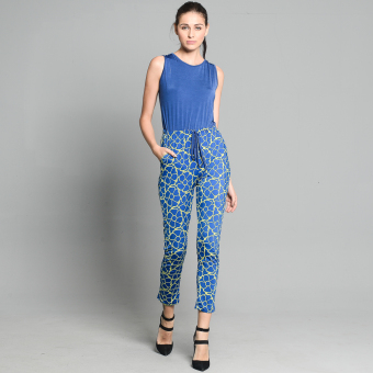 Get Laud Flora Long Jumpsuit (Blue) Price Philippines