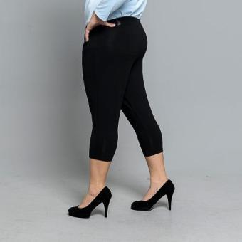 Get Laud Plus 3/4 Leggings Plain (Black) - 2