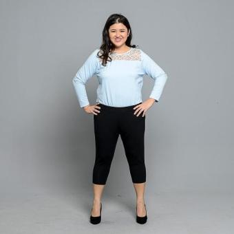 Get Laud Plus 3/4 Leggings Plain (Black) - 5
