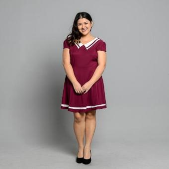 Get Laud Plus PD Dendra Dress (Magenta) Price Philippines