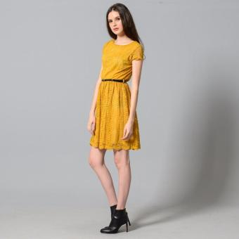 Get Laud Sd Samantha Lace Dress (Yellow) - 3