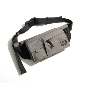 Gexin nylon new shoulder bag chest pack (Gray) (Gray)