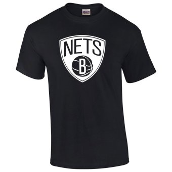 Gildan Brand Brooklyn Nets NBA Team Design T-Shirt (Black)