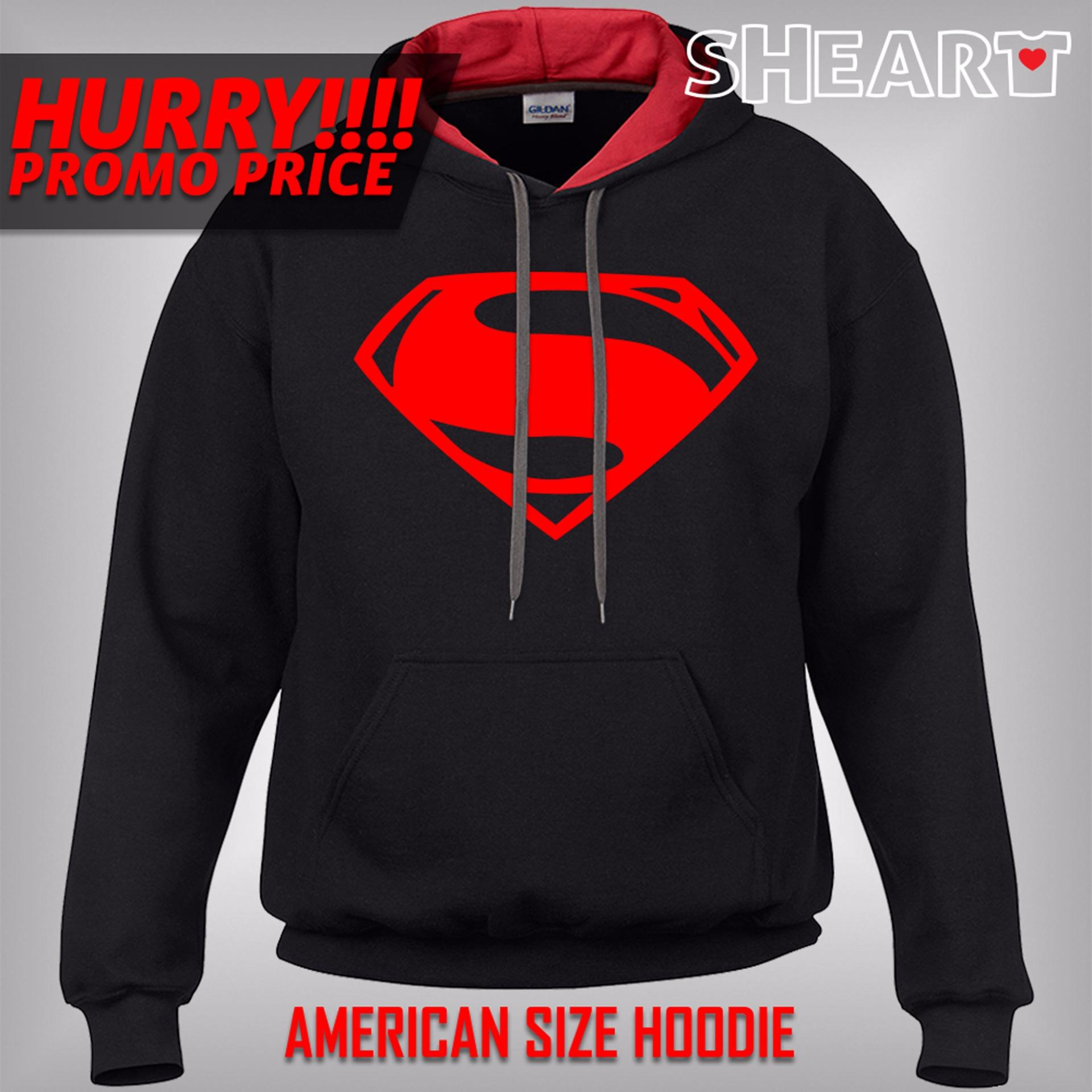30a0f95bdcdb ... Gildan Brand Contrast Hoodie Jacket Superman (Black Red) ...