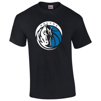 Gildan Brand Dallas Mavericks NBA Teams Design T-Shirt (Black)