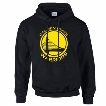 Gildan Brand Golden State Warriors NBA Team Design Hoodie Jacket(Black)