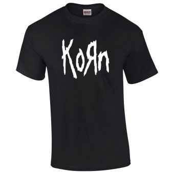 Gildan Brand KORN Vintage Retro Band Logo Design T-Shirt (Black) Price Philippines