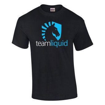 Gildan Brand Team LIQUID DOTA 2 Starcraft CS GO T-Shirt (Black)