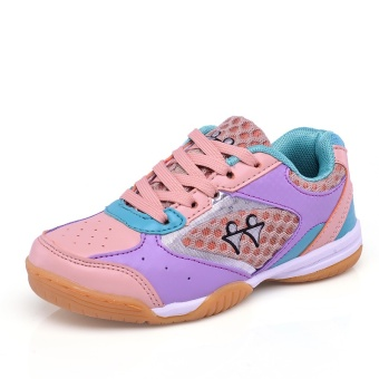 Girls and Boy's Breathable Badminton Shoes Anti-skid Children's Table Tennis Sneakers Kids Trainning Shoes Size 30-40 - intl