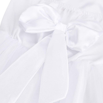 Girls Princess Wedding Party Pageant Tulle Dresses White - 2