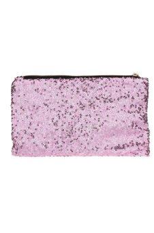 Glitter Sequins Spangle Clutch Bag (Hot Pink)