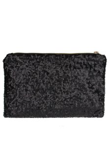 Glitter Sequins Spangle Handbag Party Evening Clutch Bag (Black) - picture 2