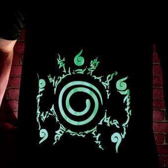 Glow in the Dark Naruto Nine Tail Seal Jutsu Shirt (IMG08) - 3