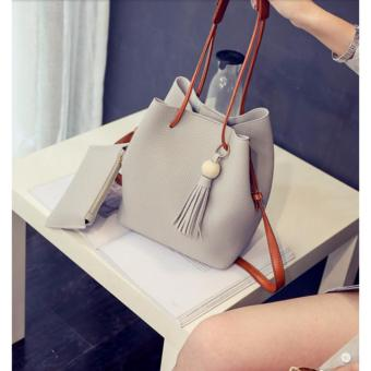 GMY Korean 2 in 1 Bucket Bag and Make up Pouch Sling Bag - Grey