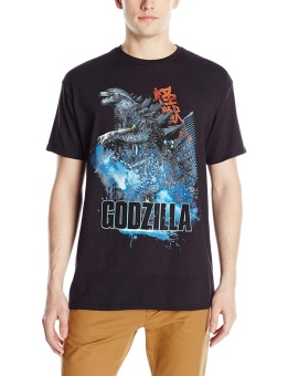 Godzilla Movie Scene Design Custom Fashion Casual Mens O-NeckT-Shirt(Black) - intl Price Philippines