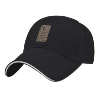 Golf Logo Cotton Baseball Cap Sports Golf Snapback Outdoor Simple Solid Hats For MenBlack - intl