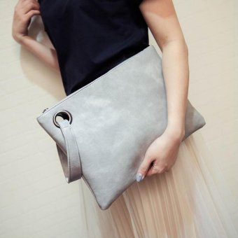 GOOD Fashion Feminine Solid Leather Clutch Bag Envelope Evening Bag Handbag
