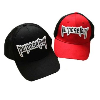Good Quality Purpose Tour Embroidered Baseball Cap Vintage Retro Justin Bieber Hat High Street Dark Tide Caps For Women And Men - intl