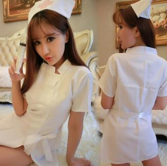 Good Service Women Nurse Uniform Sexy Lingerie Costume SuitMasquerade Cosplay Costume Sexy White - intl Price Philippines