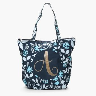 """Grab Ladies Yglitter """"A"""" Floral Tote Bag (Multicolored)"""