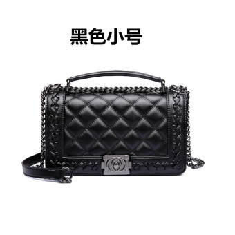 Graceful versatile soft leather women's bag handbag (Black small)