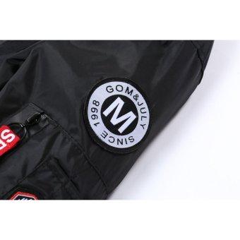 Grandwish Men American flag Patches Jackets Bomber Jackets Casual Coat M-4XL (Light grey) - intl - 5