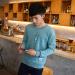 Grandwish Men Cartoon printing Sweatshirts O-neck Korean design M-3XL (Blue) - 4