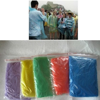Great 10pcs Emergency Disposable Rain Coat Raincoat Poncho CampingTravel Hiking - intl