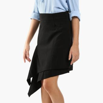 GTW Fab Draped Asymmetrical Skirt (Black)