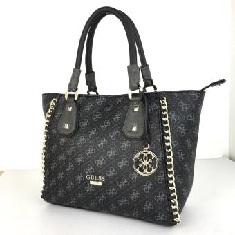 GUESS Confidential Chain Tote Bag (Black) - 2