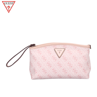 Guess indie printed small bag clutch bag (Pink)