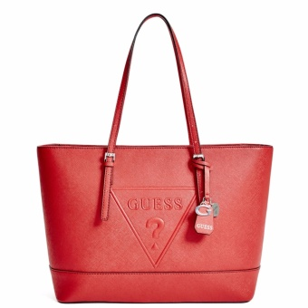 GUESS Peak Tote Shoulder Bag (Red)
