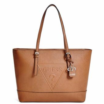 GUESS Peak Tote Shoulder Bag (Tan)