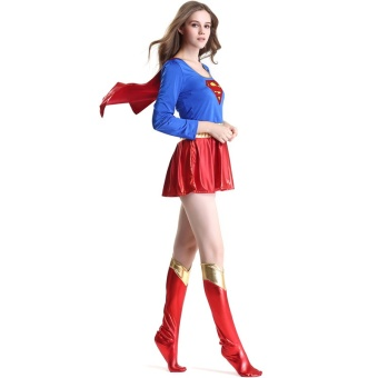 Halloween Women Cosplay Superwoman Dresses Costume Ladies Cospaly Party Superhero Dress Sexy Fancy Costume For Adult - intl - 3