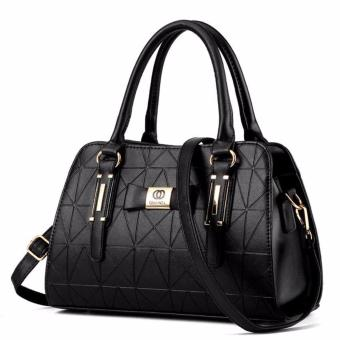 Handbag for Women Sweet Lady Fashion Leather Shoulder Hand Bag Female Top Handle Bags Black