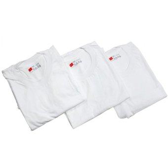 Hanes CLASSICS 3 Pieces Crew Neck T-Shirts (White) - 3