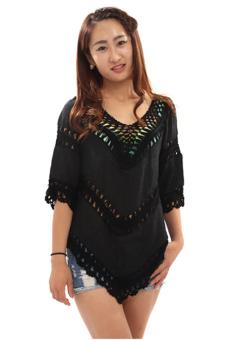Hang-Qiao Boho Lace Cardigan (Black) - picture 2